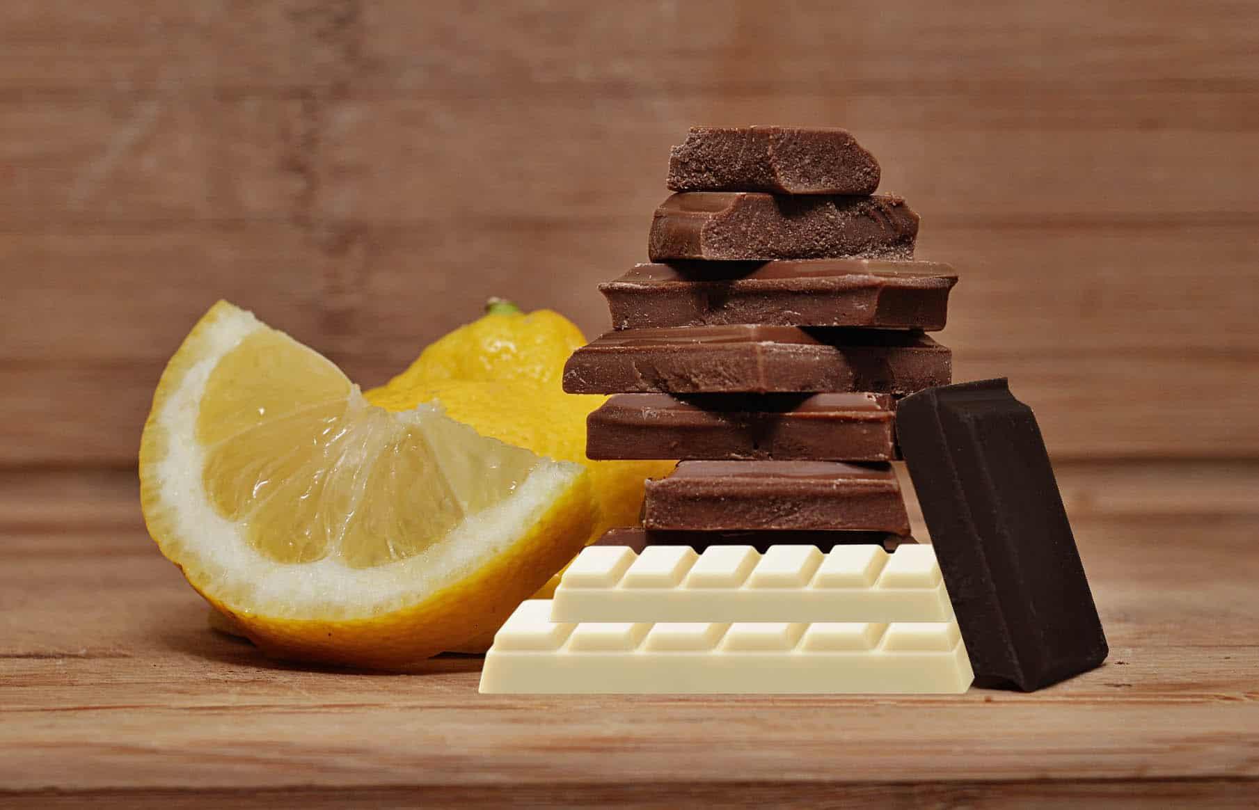 DIFERENTES TIPOS DE CHOCOLATE: Preto, ao leite, branco e chocolate com inclusão.